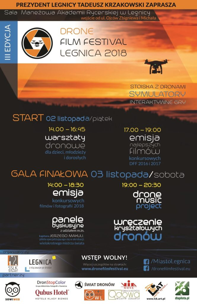 Program Drone Film Festival Legnica 2018